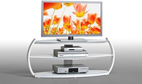 Matelpro-Mueble para televisor, en cristal Arona, color blanco: Amazon.es: Hogar