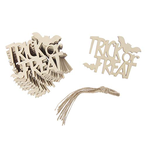 Poity 10x Halloween Boo Hanging Home Office Decor DIY Ornaments Funny Hanger with Rope ()