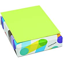 Mohawk 104034 BriteHue Multipurpose Colored Paper, 24lb, 8 1/2 x 11, Ultra Lime, 500 Sheets