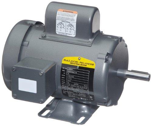 0.5 Hp Industrial Motor (Baldor L3503 General Purpose AC Motor, Single Phase, 56 Frame, TEFC Enclosure, 1/2Hp Output, 3450rpm, 60Hz, 115/230V Voltage)
