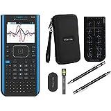 Texas Instruments Ti Nspire CX II CAS Graphing Calculator + Guerrilla Zipper Case + Essential Graphing Calculator Accessory Kit, Black (Blackk)