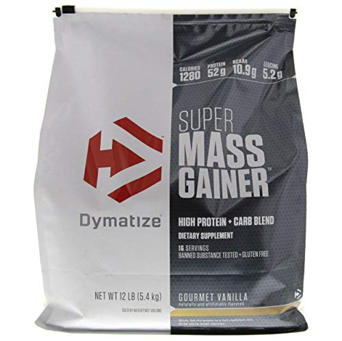 (Dymatize Nutrition Super Mass Gainer, Gourmet Vanilla, 12-Pounds)
