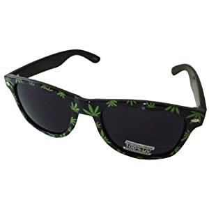 Classic Wayfarer Style Chronix 420 Mary-Jane Print w/ Uv Protection -Black Frame