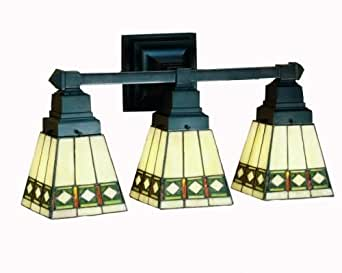 stained glass bathroom light fixtures mission stained glass bathroom lighting 24260