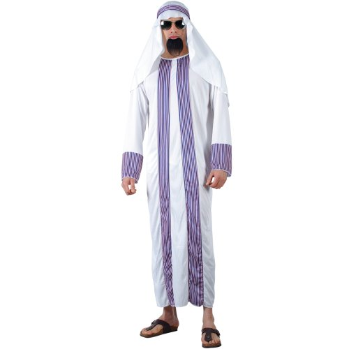 Arab Sheik Outfit (Arab Sheik Adult Mens Fancy Dress Costume One Size)