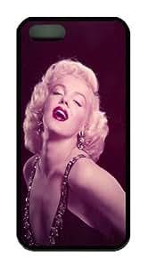 Marilyn Monroe Black TPU Iphone 5 5S Case, Custom Case for Iphone 5 5S