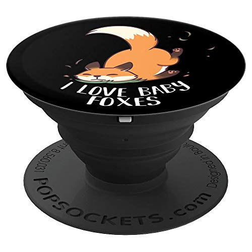 nny Cute Chibi Fox Gift - PopSockets Grip and Stand for Phones and Tablets ()