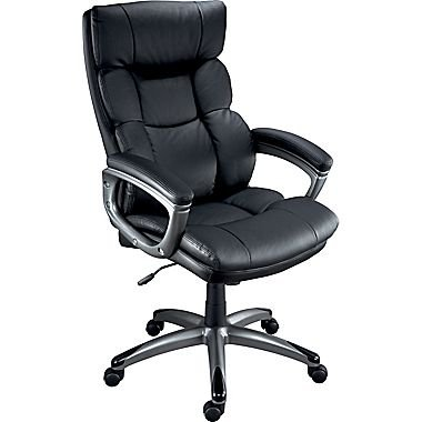 Image Unavailable  sc 1 st  Amazon.com & Amazon.com: Staples Burlston Luxura Managers Chair Black: Kitchen ...