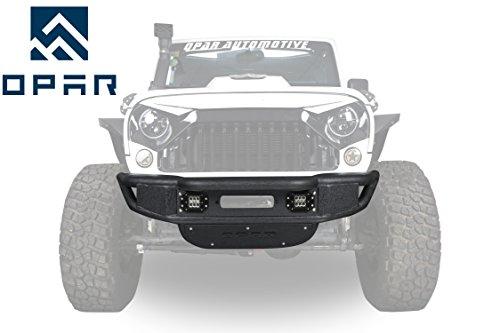 Opar LOTUS Tubular Front bumper w/ Winch Plate for 2007-2018 Jeep Wrangler JK & Wrangler Unlimited