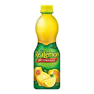 ReaLemon 100% Lemon Juice from Concentrate, 15-Ounce Squeeze Bottles (Pack of 6)