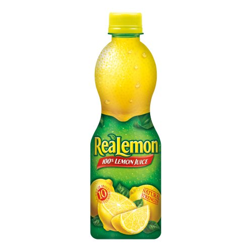 ReaLemon 100% Lemon Juice from Concentrate, 15-Ounce Squeeze Bottles (Pack of 6) by ReaLemon