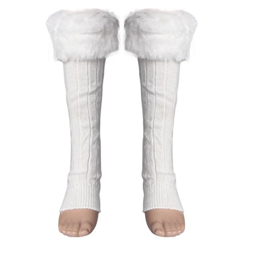 Outtop Fashion Women Stretch Boot Faux Fur Leg Cuffs Adult Socks Warmer (Boots And Tights)