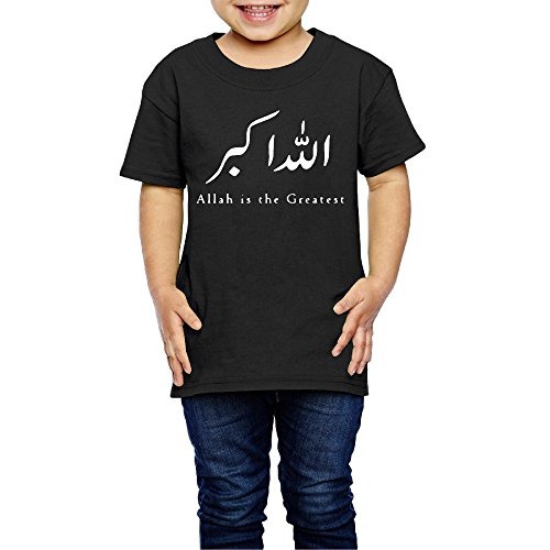 AK79 Children 2-6 Years Old Boys And Girls Tshirt Allah Is The Greatest Black Size 5-6 Toddler