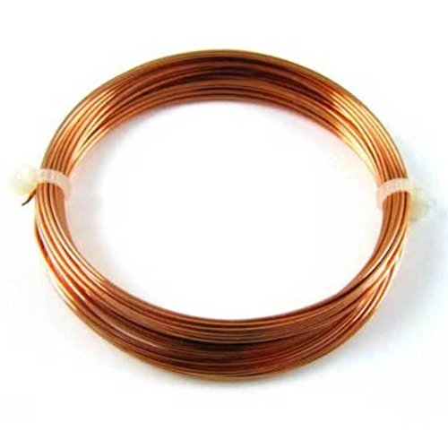 20 Ga Round Copper Wire 50 Ft. Coil / Jewelry Making ,Hobby Wire ()