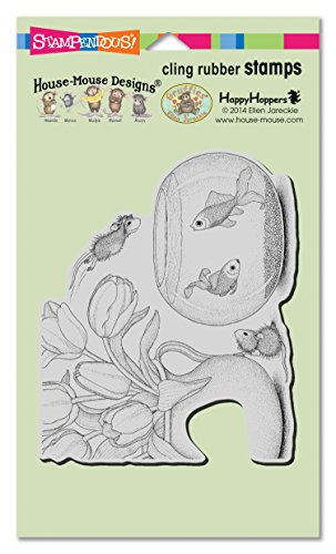 STAMPENDOUS House Mouse Cling Rubber Stamp Fish Bowl Dive