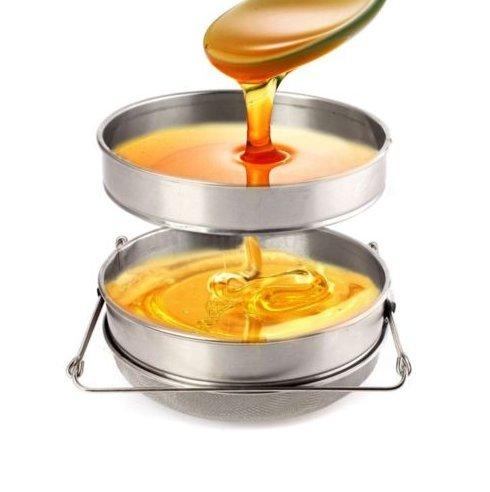 Absetztank Edelstahl Doppel Bienenzucht Imkerei Honig Sieb Filter Schmutzfänger