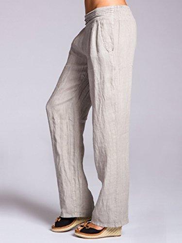 Khs020 Di Caspar Lino Donna chiaro Pantaloni Grigio nz4nwfxqF