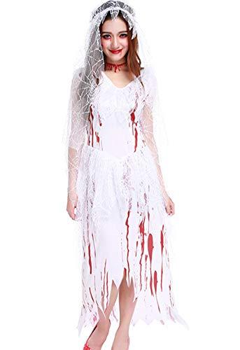 Bloody Bride Costume - Aiybao Women's Halloween Scary Zombie Bloody