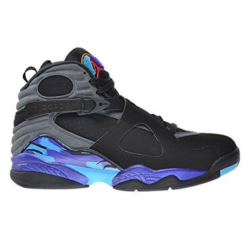 Nike Air Jordan 8 Retro, Zapatillas de Deporte para Hombre blk/tr rd-flnt gry-brght cncrd