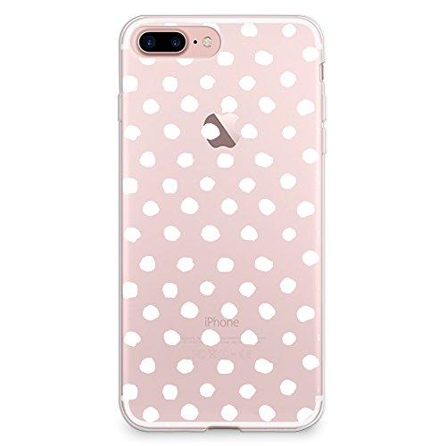 CasesByLorraine iPhone 8 Plus Case, iPhone 7 Plus Case, White Polka Dots Pattern Clear Transparent Case Flexible TPU Soft Gel Protective Cover for Apple iPhone 7 Plus & iPhone 8 - Polka Colorful Dots Cover