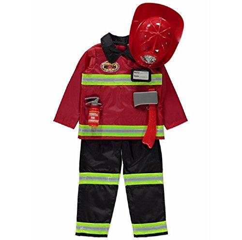 New George Fire Officer Fireman Childrens Fancy Dress Costume Outfit [5-6] (Officer Fancy Dress)