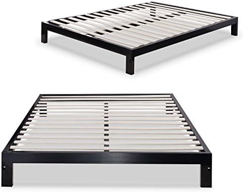 Zinus Arnav Modern Studio 10 Inch Platform 2000 Metal Bed Frame / Mattress Foundation / No Box Spring Needed / Wooden Slat Support / Good Design Award Winner, Queen 41UvX6n7LGL