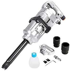 "Goplus 1"" Air Impact Wrench Gun Heavy Duty Pneumatic Tool Long Shank Commercial Truck Mechanics w/Case"