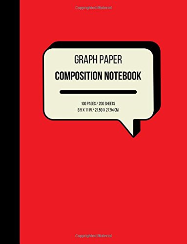Graph Paper Composition Notebook: Grid Paper Notebook, Grayscale, 110 Sheets / 220 Pages (Large, 8.5 x 11) (Graph Paper Notebooks) (Volume 1)
