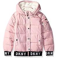 DKNY Girls' Fashion Hooded Bomber Jacket,