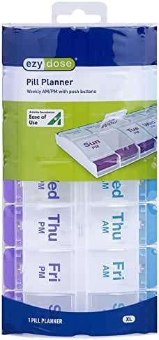 Ezy Dose AM/PM Push Button Pill Planner (XL)