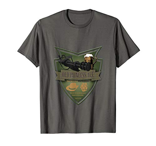 Used, Old Painless Ale -The Minigun Gattling Funny Beer Shirt for sale  Delivered anywhere in USA