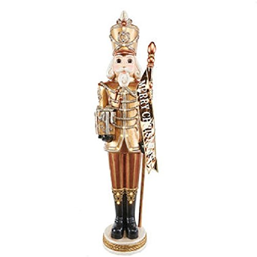 These Grand Nutcrackers are 6-ft tall. A dazzling Christmas display with their 23-LED lights. Each is ready to greet your guests dressed in his finest Golden uniforms. by Members Mark (Image #1)