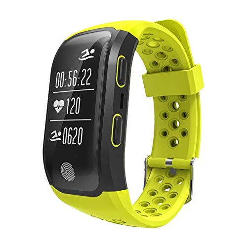 Anytec-Electronics G03 Smart Bracelet IP68 Waterproof Smart Band Heart Rate Monitor Call Reminder GPS chip S908 Sports Bracelet (Yellow)