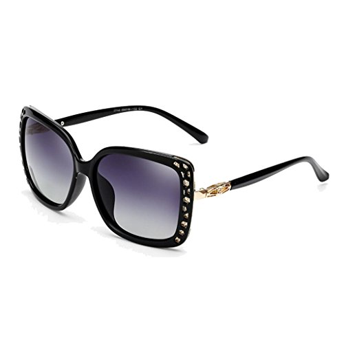 Retro Gafas Aire Ice HLMMM Black UV al Sol Explosion frame Calientes gray Genuine Frame Lens Sol Juego de Libre Polarizadas de Gafas Models Eye Frame UV Black Big Color Femeninas Blue 1qqF7d