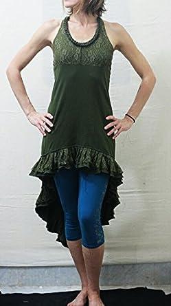 68ad7b6f67e9 Kurjaa Green High to Low Sexy Lace Dress Maxi Dress Tribal Dress Prom Dress  Evening Dress