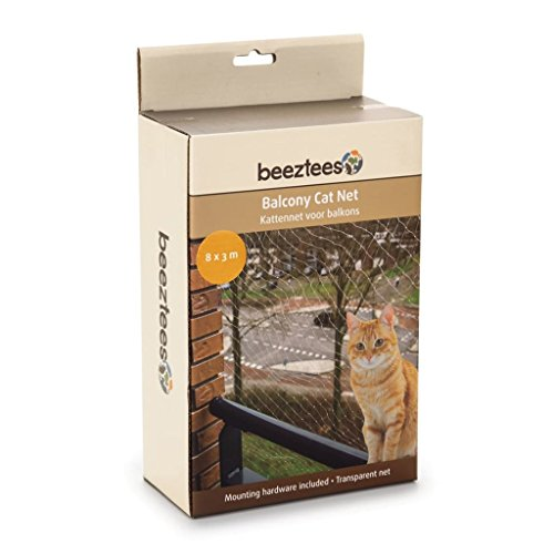 Beeztees Red de Balcón para Gatos (Transparente)