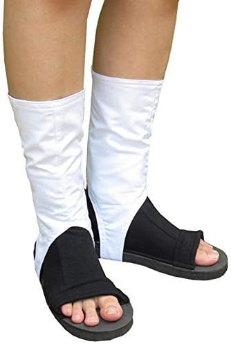 Angelaicos Unisex Black White Boots Costume Cosplay Party Cotton Shoes