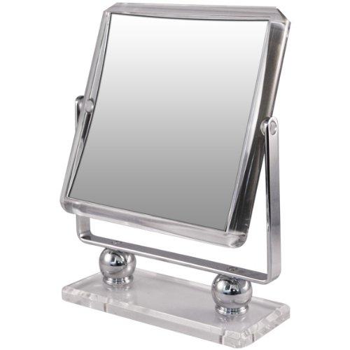 Rucci Square Metal Acrylic Stand Mirror, (Acrylic Square Mirror)