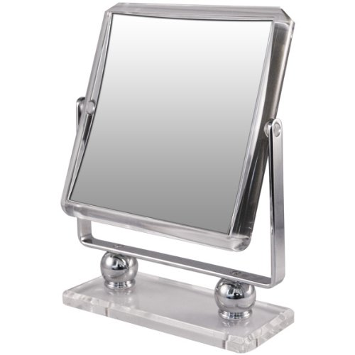 Rucci Square Metal Acrylic Stand Mirror, 7X