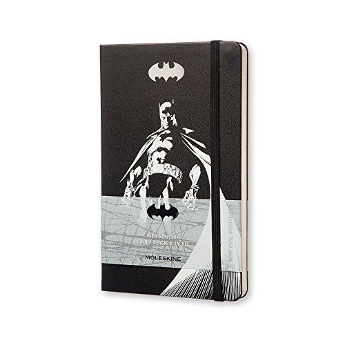Moleskine Batman Limited Edition Notebook, Large, Plain, Black, Hard Cover (5 x 8.25)