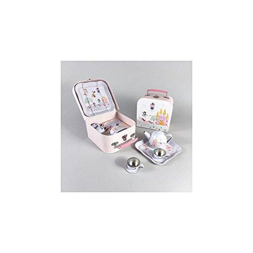 Price comparison product image Floss & Rock Fairy Unicorn 7 Piece Play Tin Tea Set