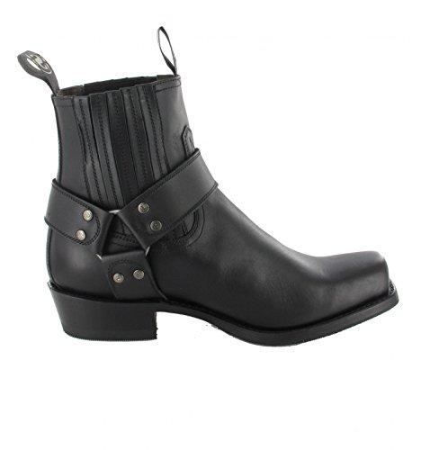 Boots Negro Boots Biker Sendra 8286 Adult Pull Unisex Black cXyydq8Z