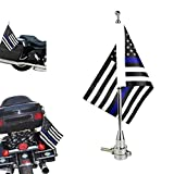 6″x9″Motocycle Flag Blue Line American Flag+ Chorme Flag Pole for Harley Davidson Honda Goldwing CB VTX CBR Yamaha Review