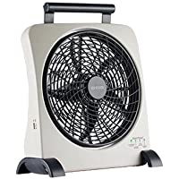 O2 Cool Smartpower Fan With Usb Port 10 In. Gray Ac