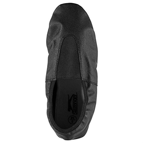Slazenger Ninos Cuero Gimnasio Junior Zapatos Running Entrenar Paneles Cosidos Negro
