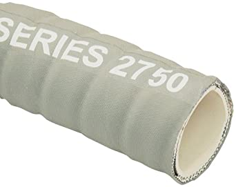 Unisource 2750 Rubber Sanitary Hose Assembly, Stainless Steel Cam And Groove Connection