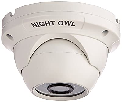Night Owl Security, 1 Pack Add-On 1080p HD Wired Security Dome Camera - Audio Enabled (White)