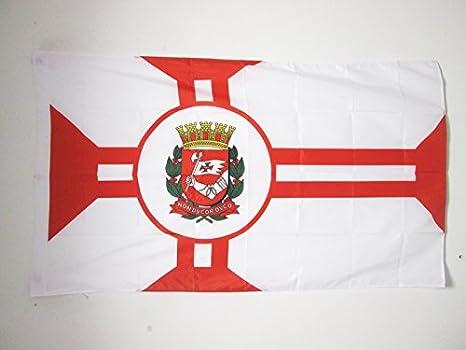 Bandiera San Paolo in Brasile 90 x 150 cm Foro per Asta AZ FLAG Bandiera San Paolo 150x90cm