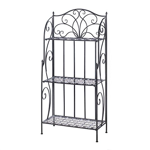 Bakers Racks For Kitchens, Industrial Restaurant Sei Bakers Rack Metal (black) by Accent Plus