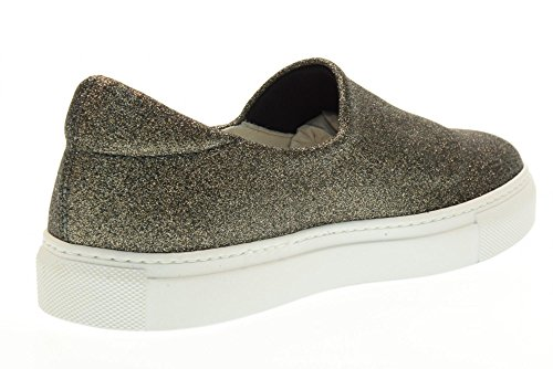 Canna Slip FRAU Fucile On 40J0 Di Nero Donna Scarpe Sneakers Elasticizzata Glitter CRxqRzwX